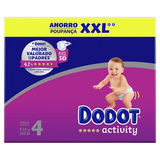 Pañales Dodot Activity box XXL T4 (9kg-14kg.) 144 ud. - 3