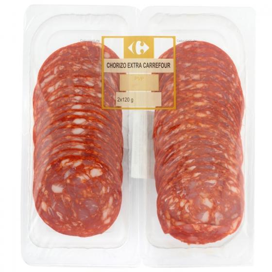 Chorizo extra Carrefour 2 x 120 g