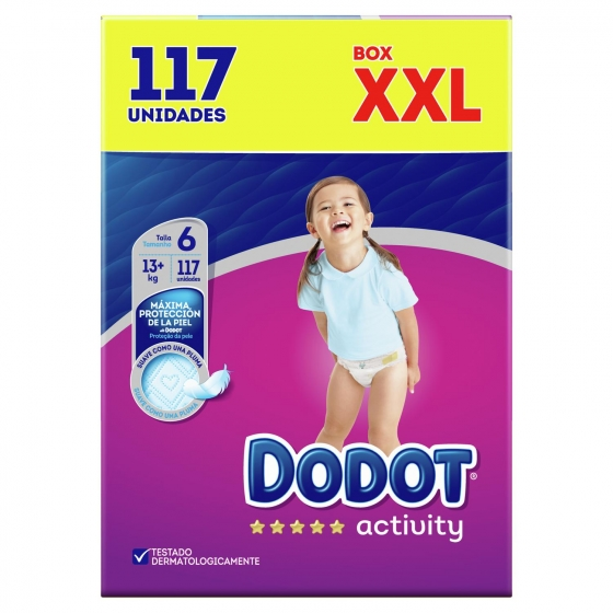 Pañales Dodot activity XXL Talla 6 (+13 Kg) 117 ud. - 1