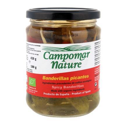 Banderillas picantes ecológicas Campomar Nature 180 g.
