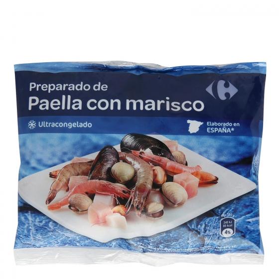 Preparado de marisco para paella Carrefour 400 g.