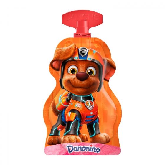 Yogur líquido de fresa Danone Danonino en bolsitas pack de 4 unidades de 70 g. - 1