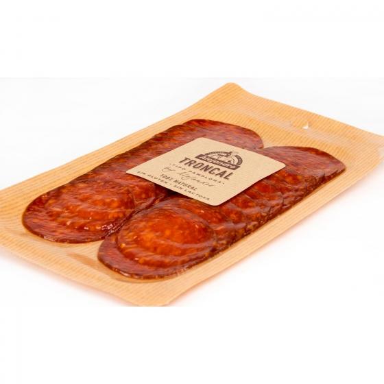 Chorizo troncal loncheado Embutidos Alejandro sobre 100 g