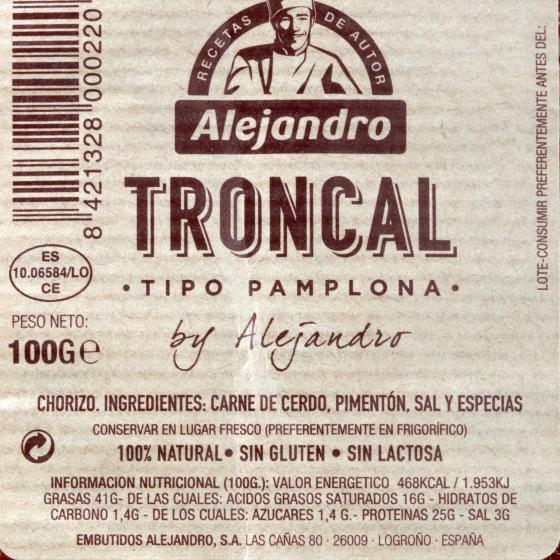 Chorizo troncal loncheado Embutidos Alejandro sobre 100 g - 3
