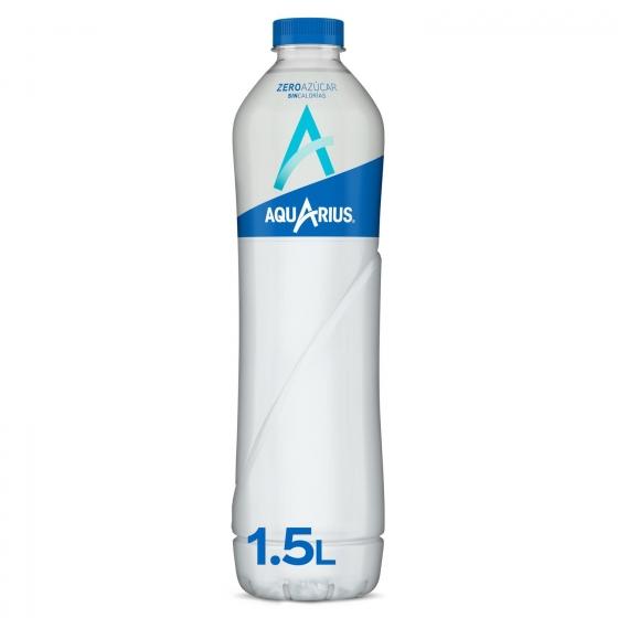 Bebida Isotónica Aquarius zero sabor limón botella 1,5 l.
