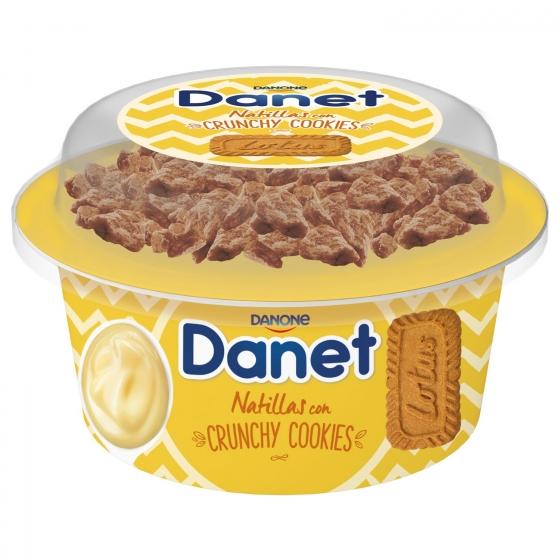 Natillas de vainilla con crunchy cookies Danone Danet 122 g.