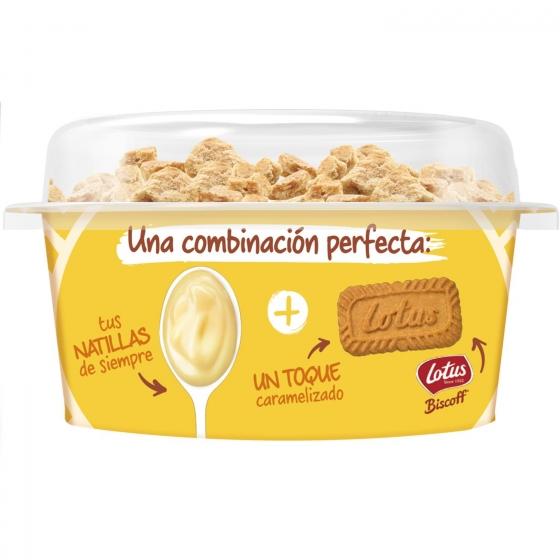 Natillas de vainilla con crunchy cookies Danone Danet 122 g. - 1