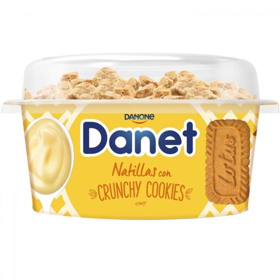 Natillas de vainilla con crunchy cookies Danone Danet 122 g. - 3