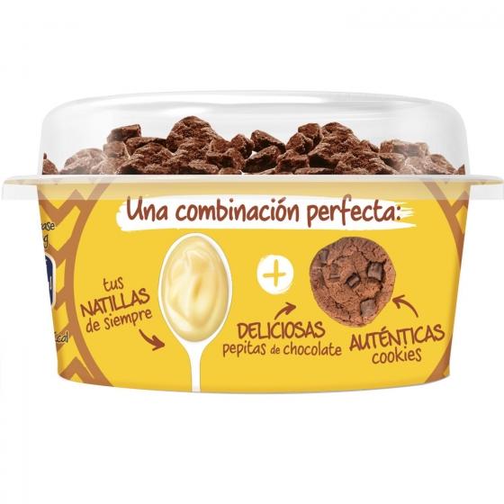 Natillas de vainilla con choco cookies Danone Danet 124 g. - 1