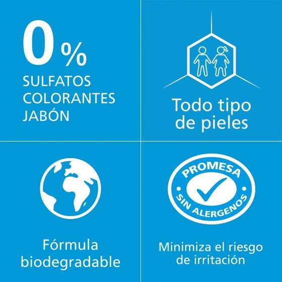 Gel de ducha cuerpo & cara zero % Sanex 600 ml. - 1