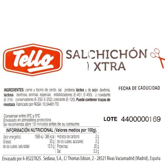 Salchichón extra loncheado Tello bipack 2 envases 120 g - 3
