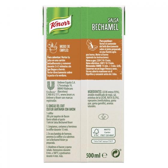 Salsa bechamel Knorr brik 500 ml. - 3