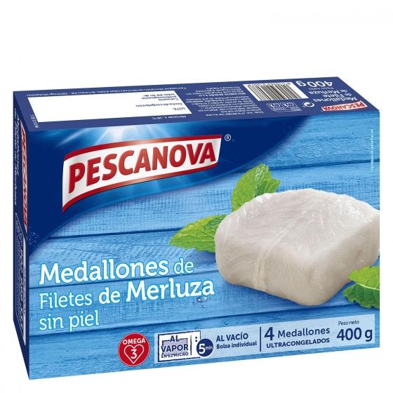 Medallones de filete de merluza Pescanova 400 g.