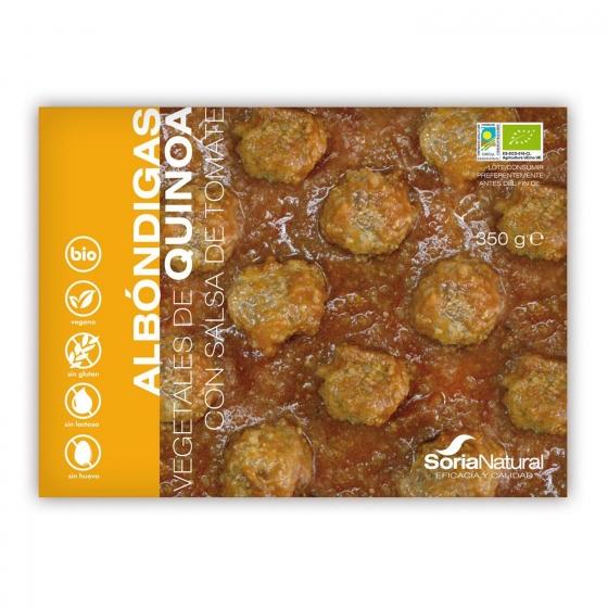 Albóndigas de quinoa ecológicas Soria Natural sin gluten y sin lactosa 370 g.