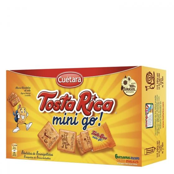 Galletas con cereales, vitaminas y calcio Mini Tosta Rica Cuétara 240 g.