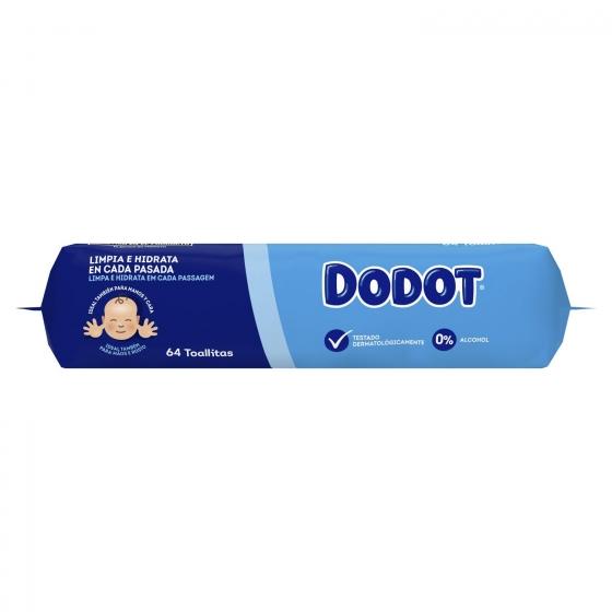 Toallitas para bebé con tapa Dodot 64 ud. - 1