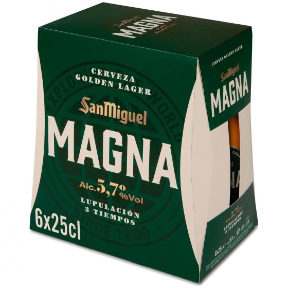 Cerveza San Miguel Magna pack de 6 botellas de 25 cl.
