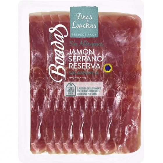 Jamón serrano reserva selección Boadas 1880 sin gluten 110 g,
