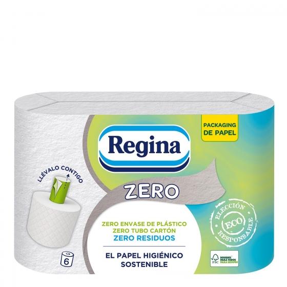 Papel higiénico zero Regina 6 rollos