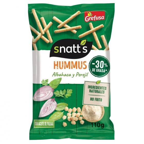 Aperitivos de hummus con albahaca y perejil Grefusa Snatt's 110 g.