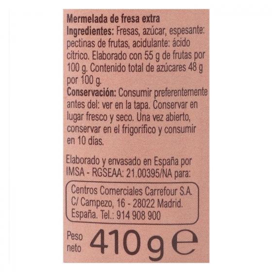 Mermelada de fresa categoría extra Carrefour 410 g. - 3