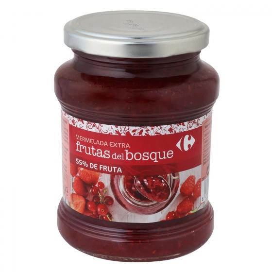 Mermelada de frutas del bosque categoría extra Carrefour 410 g.