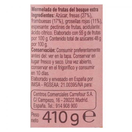 Mermelada de frutas del bosque categoría extra Carrefour 410 g. - 3