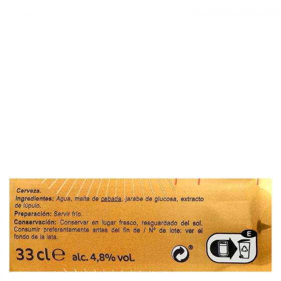 Cerveza Carrefour Holandesa lata 33 cl. - 3