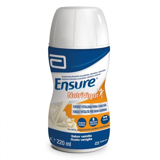 Complemento alimenticio con proteína, vitaminasy minerales de vainilla Ensure pack de 4 unidades de220 ml. - 1