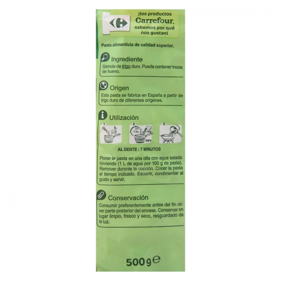 Macarrones Carrefour 500 g. - 3
