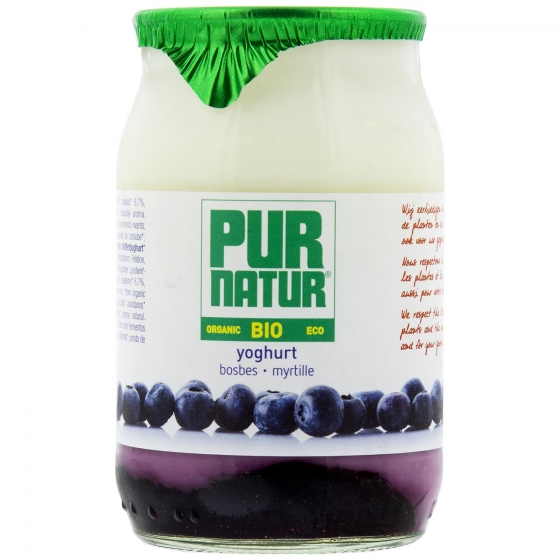 Yogur con arándanos ecológico Pur Natur 150 g.