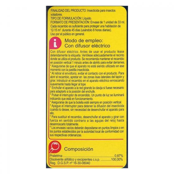 Insecticida eléctrico antimosquitos líquido recambio Carrefour 1 ud. - 3