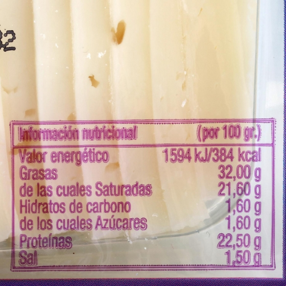 Queso semicurado mezcla ya cortado sin lactosa García Baquero cuña 200 g - 3