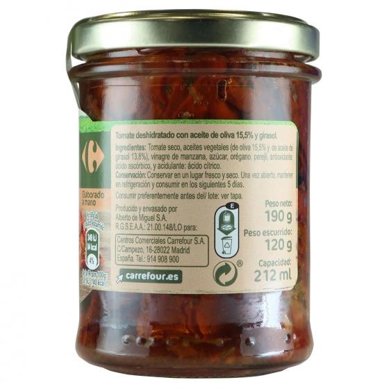Tomates secos con aceite de oliva y girasol Carrefour 120 l. - 3