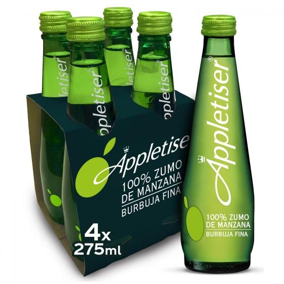 Zumo de manzana Appletiser pack de 4 botellas de 27,5 cl.