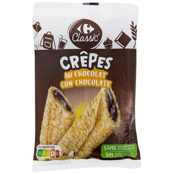 Crepes rellenos de chocolate Carrefour 256 g.