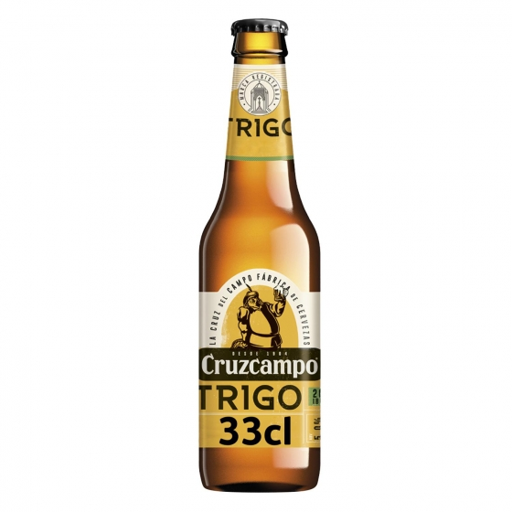 Cerveza Trigo Cruzcampo botella 33 cl.