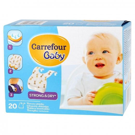 Baberos desechables Carrefour Baby 20 ud.