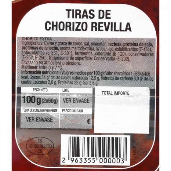 Chorizo curado en tiras Revilla (2x50g) 100 g - 3
