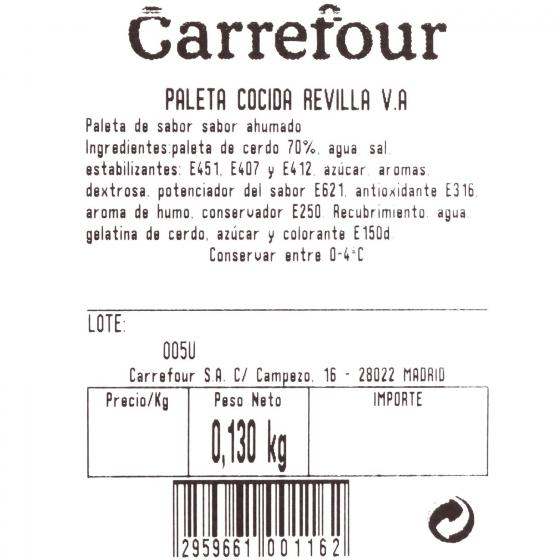 Paleta cocida Revilla al corte 200 g aprox - 3