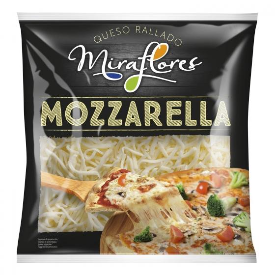 Queso mozzarella rallado Miraflores 200 g.