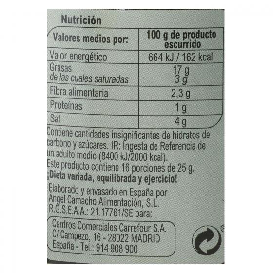 Aceitunas verdes sin hueso Carrefour 400 g. - 3