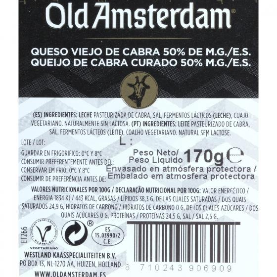 Queso de cabra cuñas ya cortadas Old Amsterdam cuña 170 g  - 1