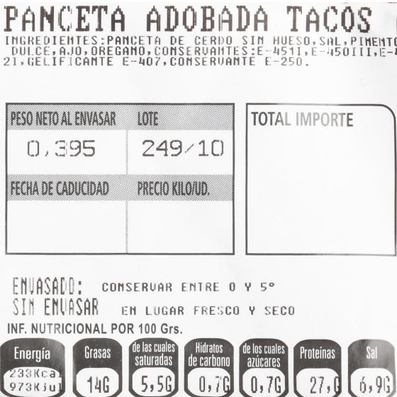 Panceta de Cerdo Adobada de El Bierzo La Encina 680 g - 1