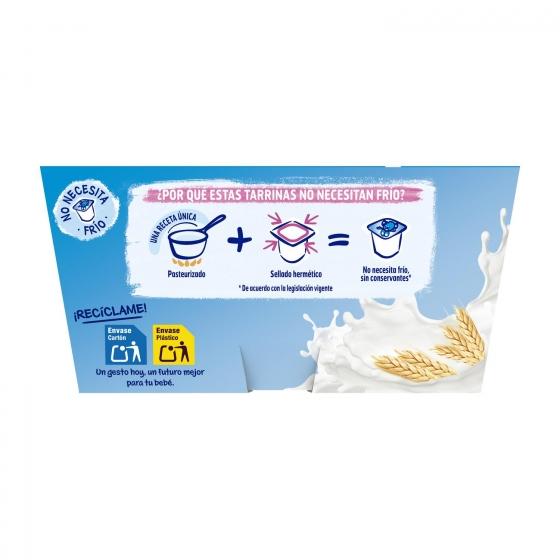 Natillas sabor vainilla desde 6 meses Nestlé Yogolino sin gluten pack de 4 unidades de 100 g. - 1