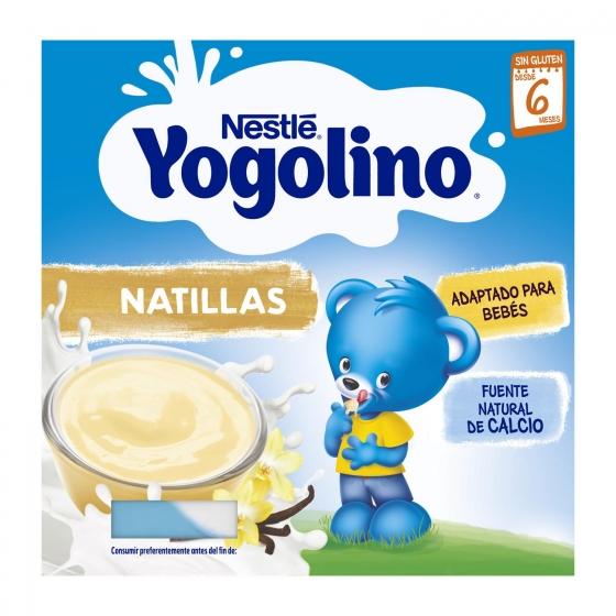 Natillas sabor vainilla desde 6 meses Nestlé Yogolino sin gluten pack de 4 unidades de 100 g. - 3