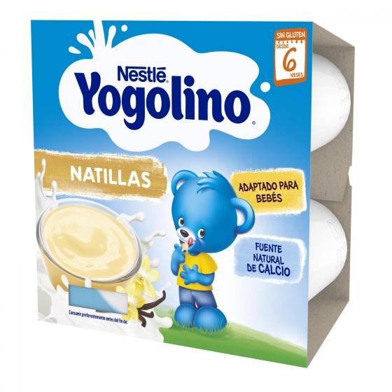 Natillas sabor vainilla desde 6 meses Nestlé Yogolino sin gluten pack de 4 unidades de 100 g. - 5