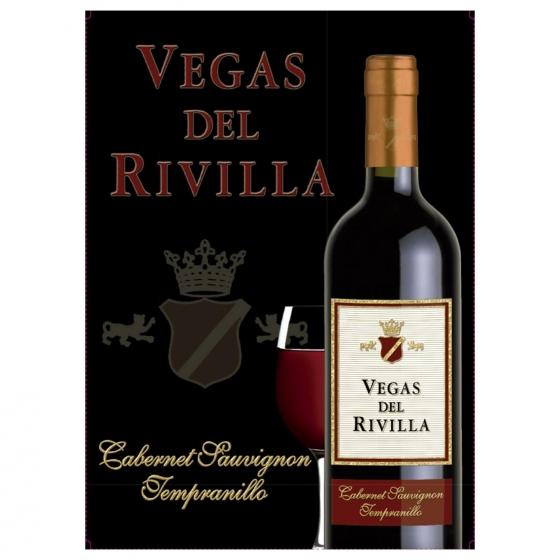 Vino tinto Vegas del Rivilla grifo 3 l.
