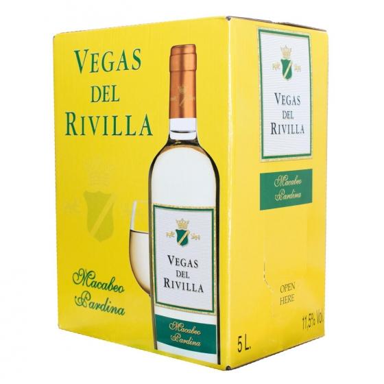 Vino de mesa blanco Vegas del Rivilla grifo 5 l.
