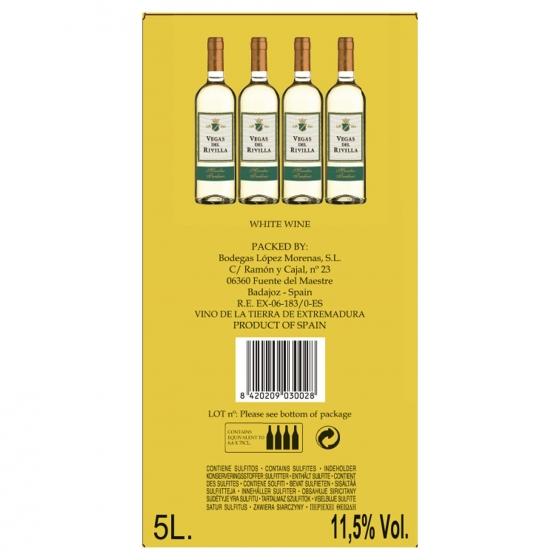 Vino de mesa blanco Vegas del Rivilla grifo 5 l. - 1